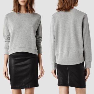 All Saints Cari Sweatshirt Gray Marl